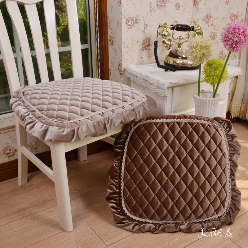 高档欧式金丝绒小菱格餐椅垫 居家沙发垫 加厚磨毛办公电脑座椅垫